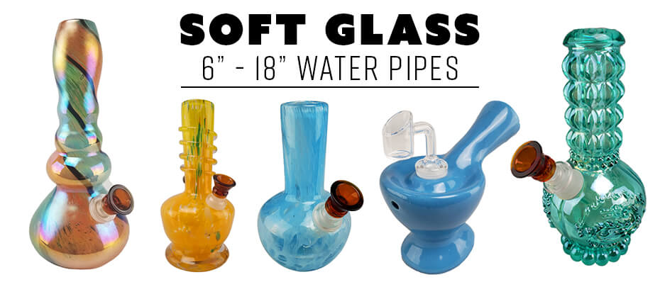 Wholesale Soft Glass Water Pipes