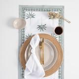 Palmetto Olive Table Linen [MUSLPALME20B]