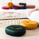 Grace Round Velvet Floor Cushion [MUSLGRACE19A]