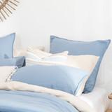 Washed Linen Look Denim European Pillowcase [ESSBWLL19_EURL]