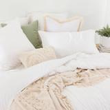 Washed Linen Look White European Pillowcase [ESSBWLL19_EURN]
