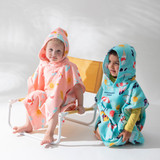 Dino Salad Kids Hooded Beach Towel [SUNLDINOP21]