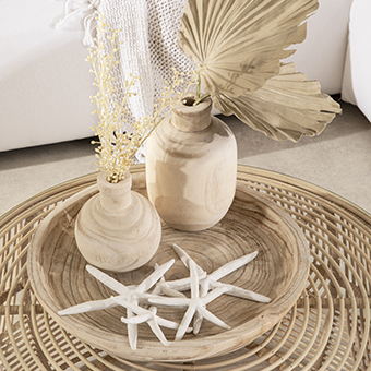 Decorative Vase and Tray