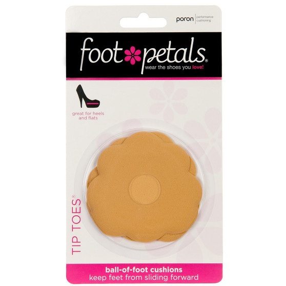 Tip Toes - Shoe Pad for the Ball of Foot - Buttercup in Packaging - by Foot Petals