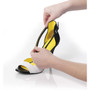 Strappy Strips - Fitting Black Cushioning Strip to Shoe - by Foot Petals