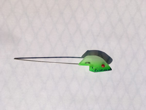 Green Splatter Anchovy Classic Bait Head 2 pk