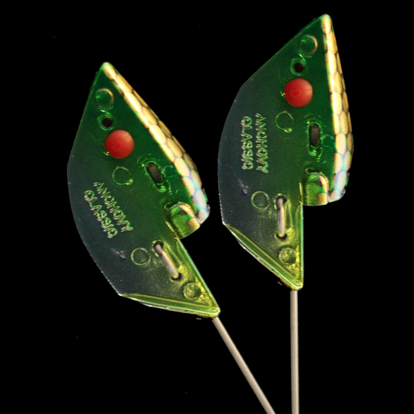 Anchovy Classic Bait Head - Green Gator, Unrigged 2pk