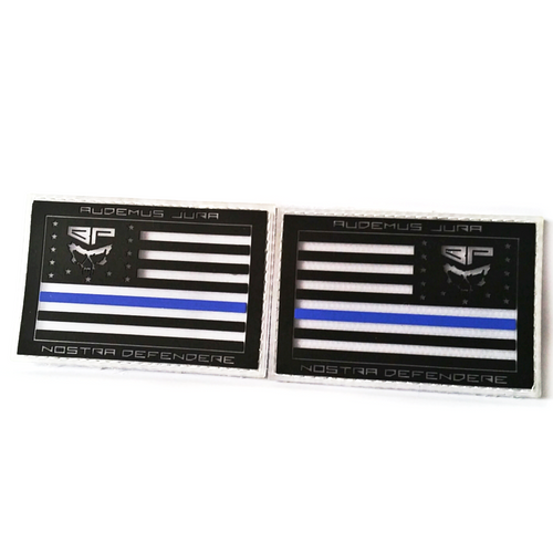 """CLEAR Limited Edition 13 star Battle Flags """"We Dare Defend Our Rights""""  PVC Morale Patch Set"""