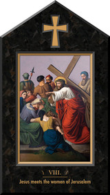 Indoor Station of the Cross Icon Plaques (Set of 14)