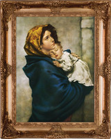 Madonna of the Streets Museum Framed Canvas
