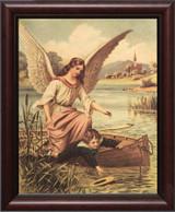 Guardian Angel on the Boat Framed Art