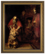 Prodigal Son by Rembrandt - Gold Framed Art