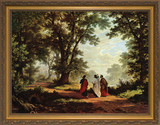 Road to Emmaus - Standard Gold Framed Art