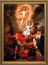 Resurrection of Christ by Coypel - Standard Gold Framed Art