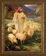 Good Shepherd - Gold Framed Art