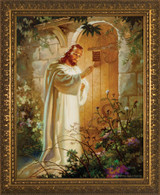 Christ at Heart's Door - Gold Framed Art