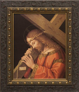 Christ Bearing the Cross - Ornate Dark Framed Canvas
