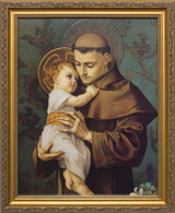 St. Anthony with Jesus - Standard Gold Framed Art