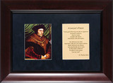 St. Thomas More Matted with Prayer - Cherry Framed Art