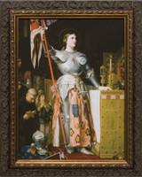 St. Joan of Arc - Ornate Dark Framed Art