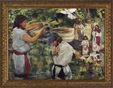 Baptism of Jesus by Jason Jenicke Standard Gold Framed Art