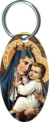 Our Lady of Mt. Carmel Oval Keychain