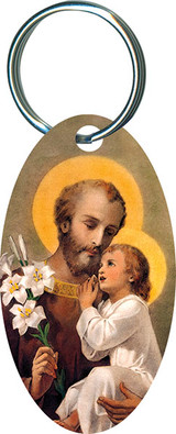St. Joseph (Younger) Oval Keychain