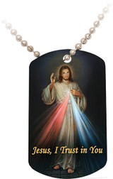Divine Mercy Dog Tag