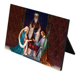 Wedding of Joseph and Mary Horizontal Desk Plaque