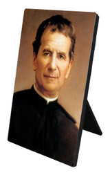 St. John Bosco Vertical Desk Plaque
