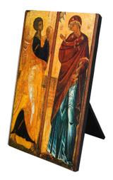 Annunciation Icon Vertical Desk Plaque