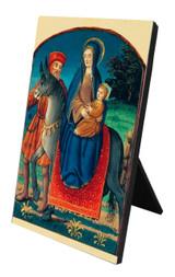 Flight Into Egypt (Medieval) Vertical Desk Plaque