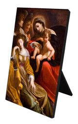 Mystical Marriage of St. Catherine Vertical Desk Plaque
