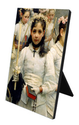 After the First Holy Communion (Detail 1 Girl) Vertical Desk Plaque
