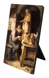 His Madonna Vertical Desk Plaque