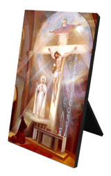 The Last Vision of Fatima Vertical Desk Plaque