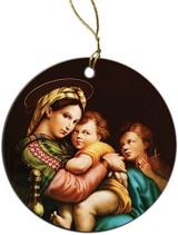 Madonna della Seggiola (Madonna of the Chair) Ornament