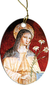 St. Clare (Red) Ornament