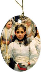 After the First Holy Communion (Detail 1 Girl) Ornament
