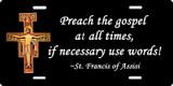 Preach the Gospel (black) License Plate
