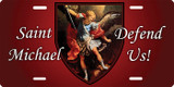 St. Michael the Archangel (Red) License Plate