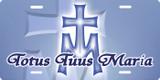 Totus Tuus Maria License Plate