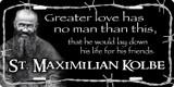 St. Maximilian Kolbe License Plate