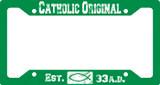 Catholic Original Green Plate Frame