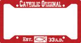 Catholic Original Red Plate Frame