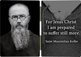 St. Maximilian Kolbe with Quote Diptych