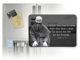 St. Maximilian Kolbe with Bible Verse Magnet