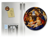 Madonna of the Magnificat Round Magnet