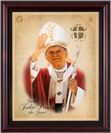 St. John Paul II (Waving) Framed Art