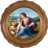 Alba Madonna  - Round Framed Canvas